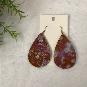 Lightweight Leather Drop Earrings